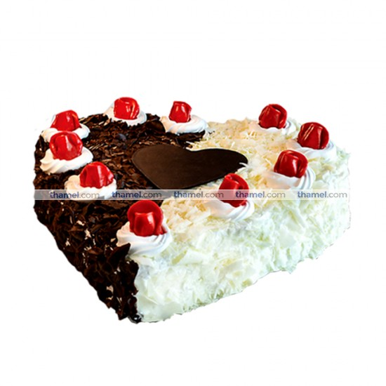 Black Forest & White Forest Mixed Cake- 2 lbs.