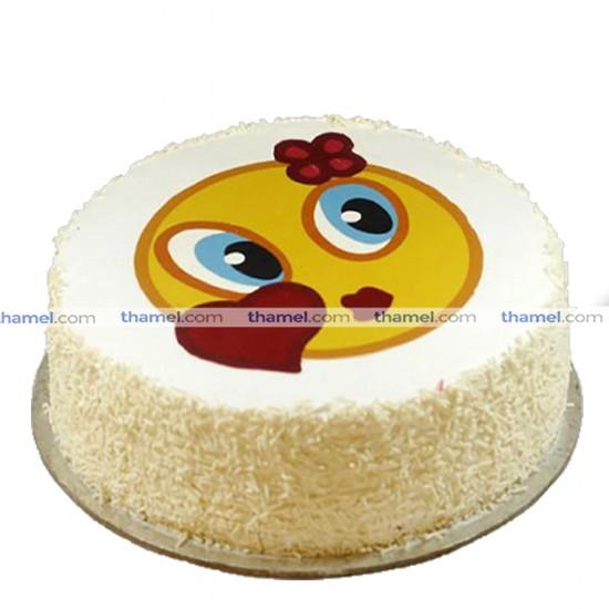 Emoji Black Forest Cake - 2 lbs