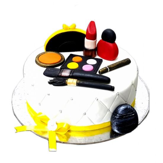 Vanilla Makeup Fondant Cake -4 kg.