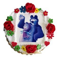 Masha and The Bear Photo  Cake - 2 lbs.