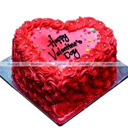 Pink Heart Chocolate Cake-2lbs.