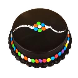 Rakshya Bandhan Special Chocolate Gems Cake - 2 lbs
