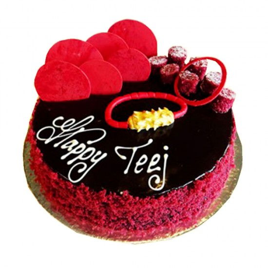 Teej Special Chocolate Cake - 2 lbs