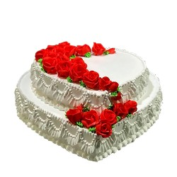 Heart Shaped Wedding Special Cake