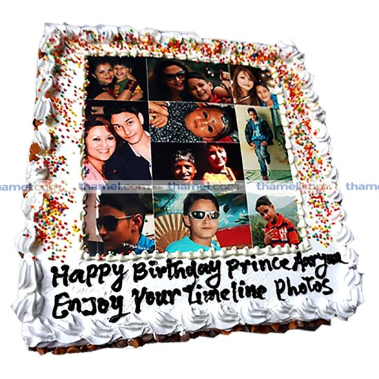 Timeline Photo Print Cake - 2 lbs.