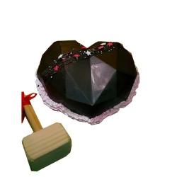 Heart Shaped Diamond Pinata Cake
