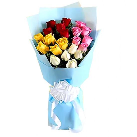Vibrant Mixed Rose Bouquet