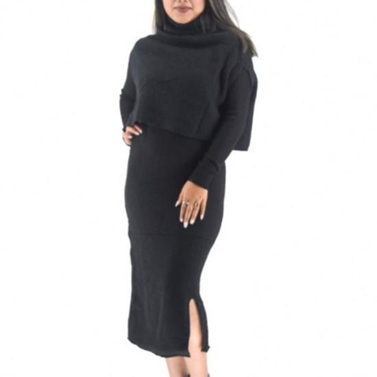 Woolen Bodycon Dress