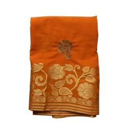 Marigold Orange Italian Chiffon