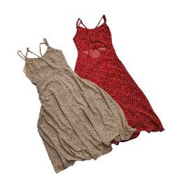 Polka Dot Dress with Crossed Back