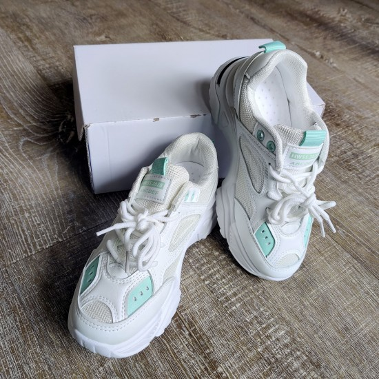 White &Turquoise Sneakers
