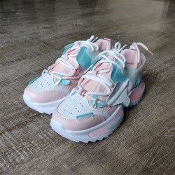 Peach & Blue Sneakers