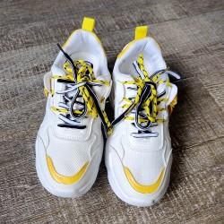 White & Yellow Sneaker