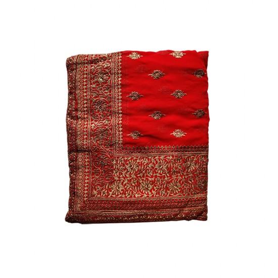 Red Ifa Chiffon Saree