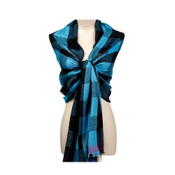 Checkered Handcrafted Particolored Pashmina Stole