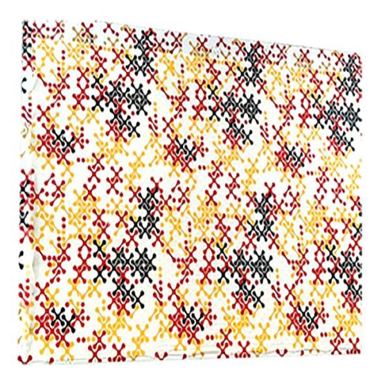 X / Cross Pattern Print Pashmina Stole