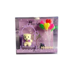 Purple Light Box with Bear & Balloons