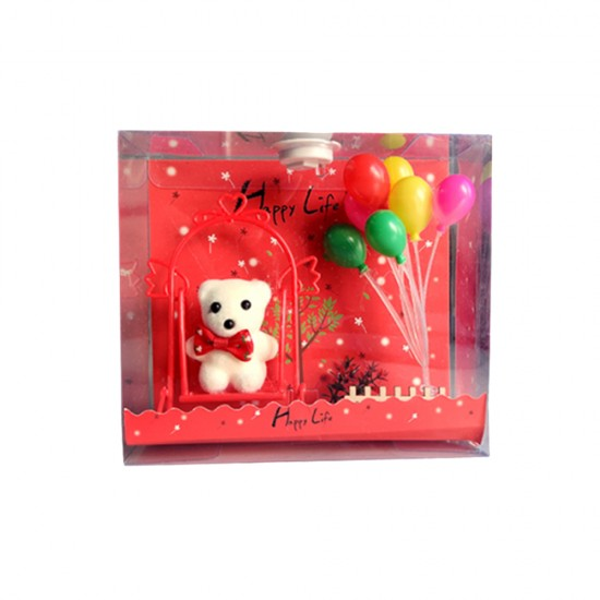 Red Light Box with Bear & Balloons