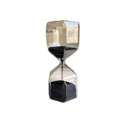 Black Sand Hourglass Timer