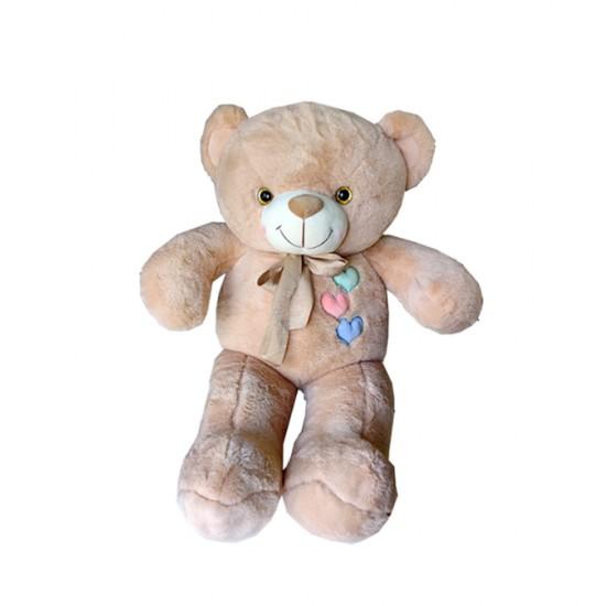 Light Peach Teddy with Hearts