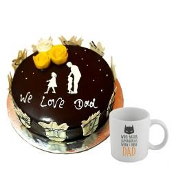 Chocolate cake -2 lbs with Mug