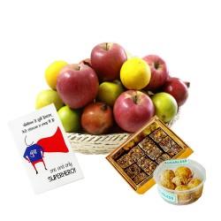 Sugarfree Mithai with Fruit Basket & Card