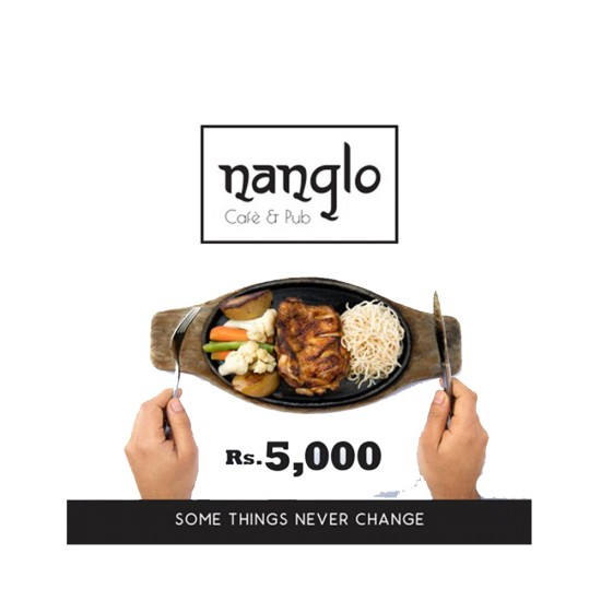 Gift Certificate of Rs.5,000 by Nanglo Café and Pub