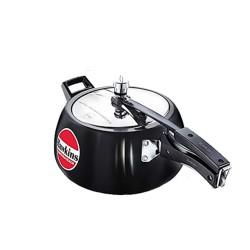 Hawkins Contura Black Hard Anodised Pressure Cooker - 5 L