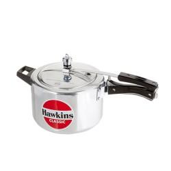 Hawkins Classic Silver Pressure Cooker 5 Litre