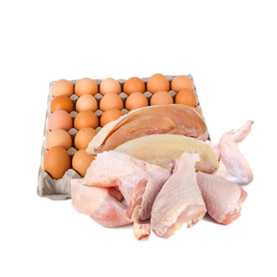 Egg & Meat - Chicken 2 KG + 30 Eggs