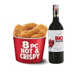 8pcs Hot & crispy with Red Wine