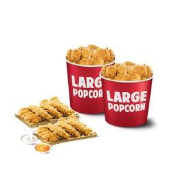 KFC Strips with Popcorn