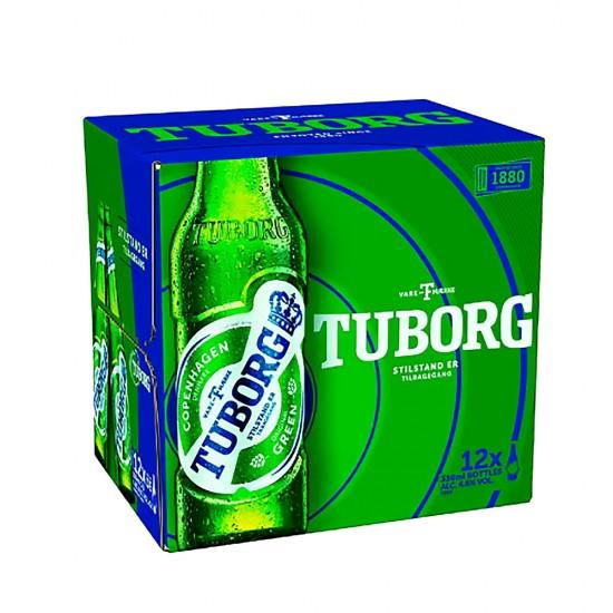Tuborg Beer 330 ml  x12 Bottles